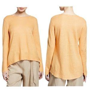 Eileen Fisher Roundneck Linen Tunic Blouse M